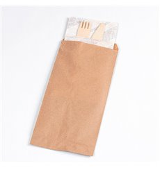 Paper Cutlery Envelopes Kraft 11x24cm (125 Units)