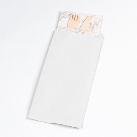 Paper Cutlery Envelopes White 9x24cm (125 Units)