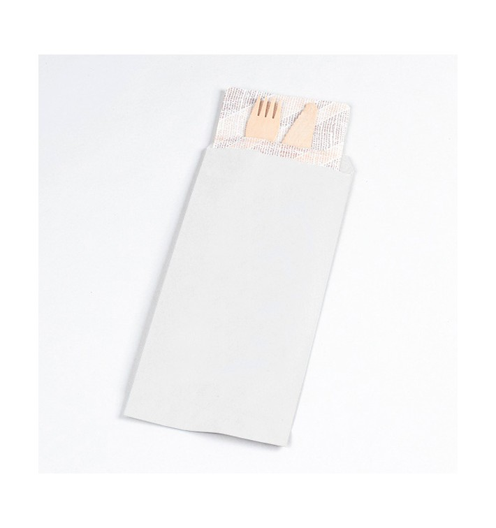 Paper Cutlery Envelopes White 11x24cm (125 Units)