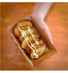 Paper Food Boat Tray Kraft-Kraft 300ml 11x7x3,5cm (1000 Units)
