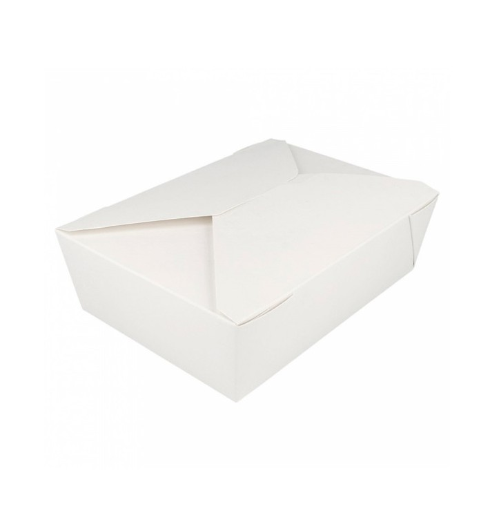 """Paper Take-out Container """"American"""" White 19,7x14x6,4cm 1980ml (200 Units)"""