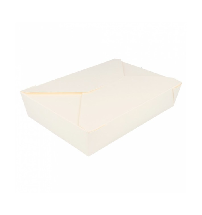 "Paper Take-out Container ""American"" White 19,7x14x4,6cm 1470ml (200 Units)"