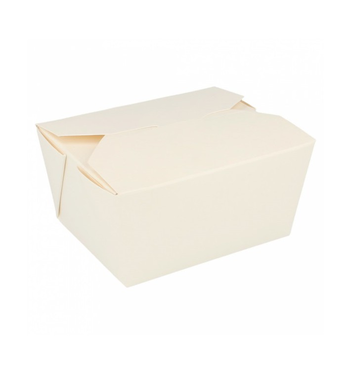"""Paper Take-out Container """"American"""" White 19,7x14x9cm 2880ml (40 Units)"""