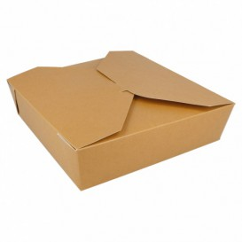 """Paper Take-out Container """"American"""" Natural 21,7x21,7x6cm 2910ml (35 Units)"""