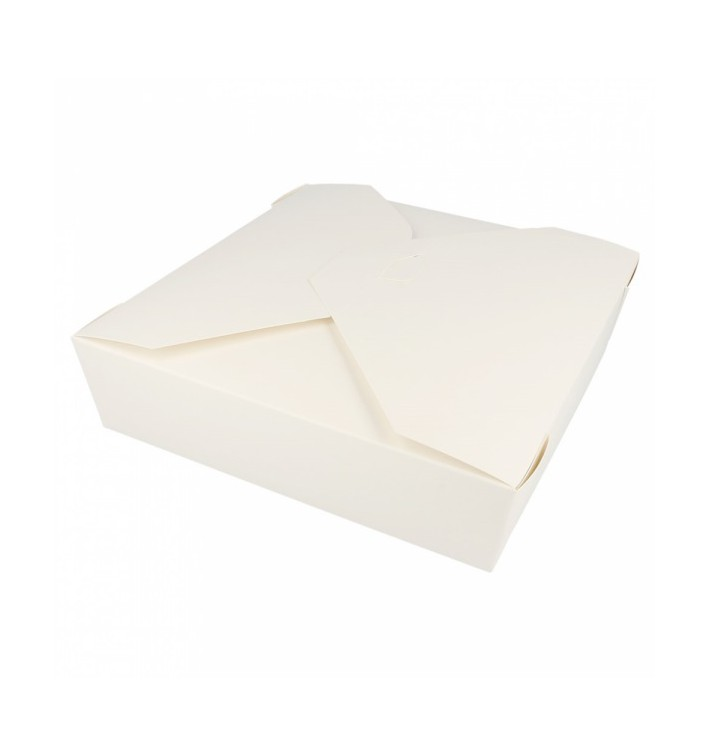 "Paper Take-out Container ""American"" White 21,7x21,7x6cm 2910ml (35 Units)"