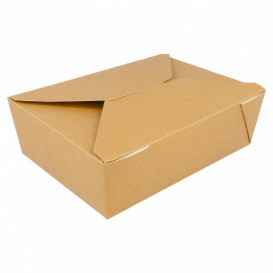 "Paper Take-out Container ""American"" Natural 19,7x14x6,4cm 1980ml (50 Units)"