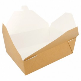 """Paper Take-out Container """"American"""" Natural 19,7x14x6,4cm 1980ml (200 Units)"""