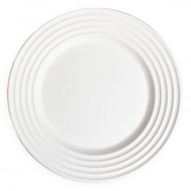 Sugarcane Plate Premium Wave White Ø23cm (50 Units)