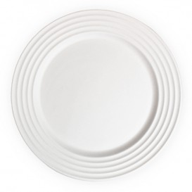 Sugarcane Plate Premium Wave White Ø26cm (400 Units)
