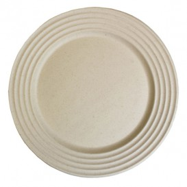Sugarcane Plate Premium Wave Natural Ø26cm (50 Units)