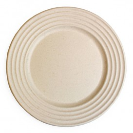 Sugarcane Plate Premium Wave Natural Ø23cm (50 Units)