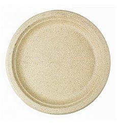 Wheat Straw Plate Natural Ø23 cm (50 Units)
