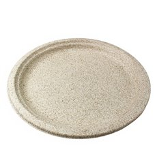 Wheat Straw Plate Natural Ø26 cm (50 Units)