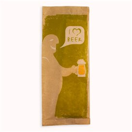 """Paper Cutlery Envelopes with Napkin """"I Love Beer"""" (125 Units)"""