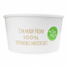 Paper Salad Bowl White Large size 1030ml (34 Units)