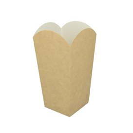 Paper Popcorn Box Small Size Kraft 45g 6,5x8,5x15cm (700 Units)