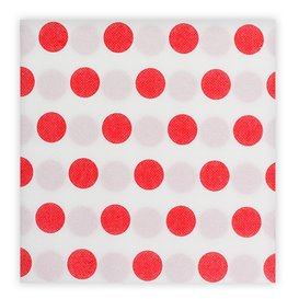 """Paper Napkin Double Point """"Polkadots Red"""" 40x40cm (50 Units)"""