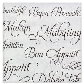 """Paper Napkin Double Point """"Buen Provecho"""" 40x40cm (50 Units)"""