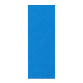 Pocket Fold Paper Napkins Turquoise 30x40cm (30 Units)