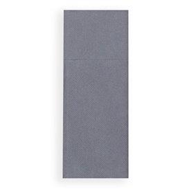 Pocket Fold Paper Napkins Grey 30x40cm (30 Units)
