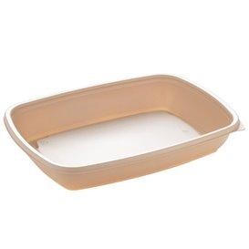 Plastic Deli Container PP Cream 600ml 23x16,5cm (75 Units)