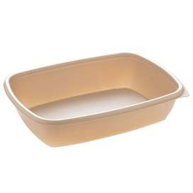 Plastic Deli Container PP Cream 900ml 23x16,5cm (300 Units)