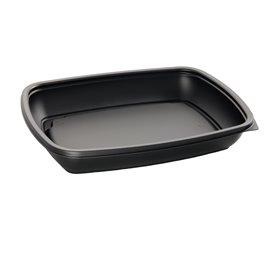 Plastic Deli Container PP Black 600ml 23x16,5cm (75 Units)