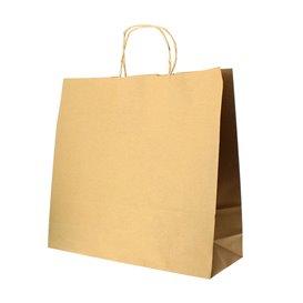 Paper Bag with Handles Kraft Hawanna 100g 32+20x32cm (50 Units)