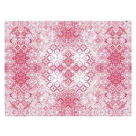 "Pre-Cut Paper Tablecloth 1x1m ""Mosaic"" Burgundy 40g/m² (400 Units)"