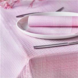 "Pre-Cut Paper Tablecloth 1x1m ""Between Lines"" Burgundy 40g/m² (400 Units)"
