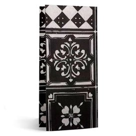 "Paper Napkin Double Point 1/8 33x40cm ""Alhambra"" Black (2000 Units)"