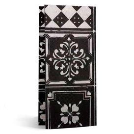 "Paper Napkin Double Point 1/8 33x40cm ""Alhambra"" Black (50 Units)"