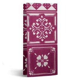 """Paper Napkin Double Point 1/8 33x40cm """"Alhambra"""" Purple (50 Units)"""