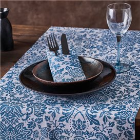"""Airlaid Tablecloth Roll 0,4x48m """"Versalles"""" Turquoise 50g/m² P30cm (1 Unit)"""