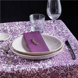 "Airlaid Tablecloth Roll 0,4x48m ""Versalles"" Purple 50g/m² P30cm (6 Units)"