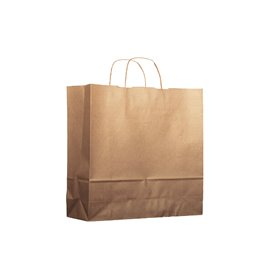 Paper Bag with Handles Kraft 100g 18+8x24cm (25 Units)