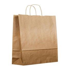 Paper Bag with Handles Kraft 120g/m² 36+24x39cm (50 Units)