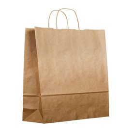 Paper Bag with Handles Kraft 120g/m² 36+24x39cm (200 Units)