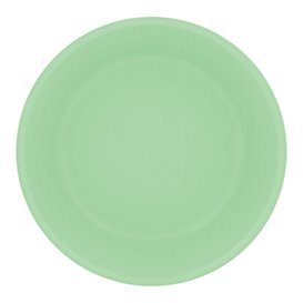 Reusable Plate Durable PP Mineral Green Ø18cm (6 Units)