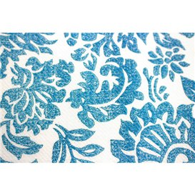 """Airlaid Tablecloth Roll 1,2x25m """"Versalles"""" Turquoise 50g/m² (6 Units)"""