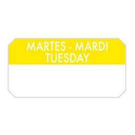 "Self-Adhesive Rectangular Roll ""Tuesday"" 5x2,5cm (1.000 Units)"