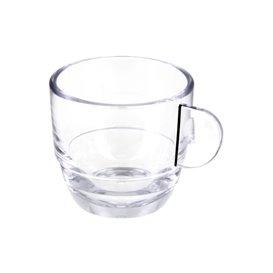 """Reusable Plastic Cup SAN """"Espresso"""" Transparent 80ml (6 Units)"""