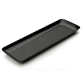 Plastic Tasting Tray PS Black 6x19 cm (20 Units)