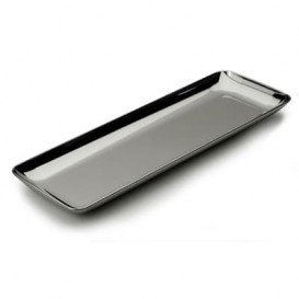 Plastic Tasting Tray PS Silver 6x19 cm (200 Units)