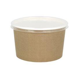 Paper Soup Bowl with Lid Kraft PP 16 Oz/473ml (500 Units)