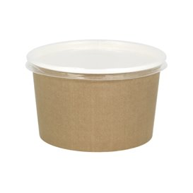 Paper Soup Bowl with Lid Kraft PP 16 Oz/473ml (25 Units)