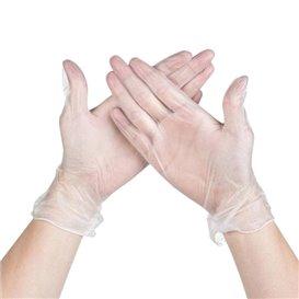 Vinyl Gloves Clear Size XL (100 Units)