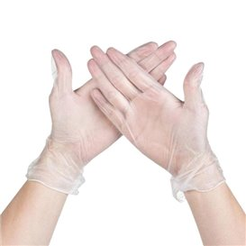 Vinyl Gloves Clear Size S (1000 Units)