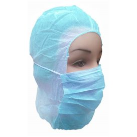Disposable Surgeon Hood PP Blue (50 Units)