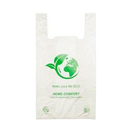 Plastic T-Shirt Bag 100% Biodegradable 30x40cm (100 Units)